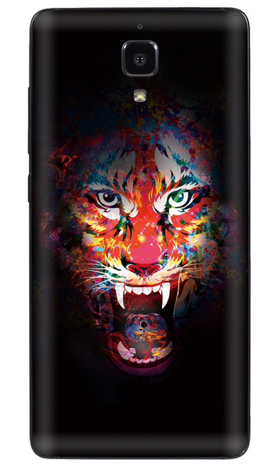 Xiaomi Mi 4 Vinyl Sticker Back Cover Tiger