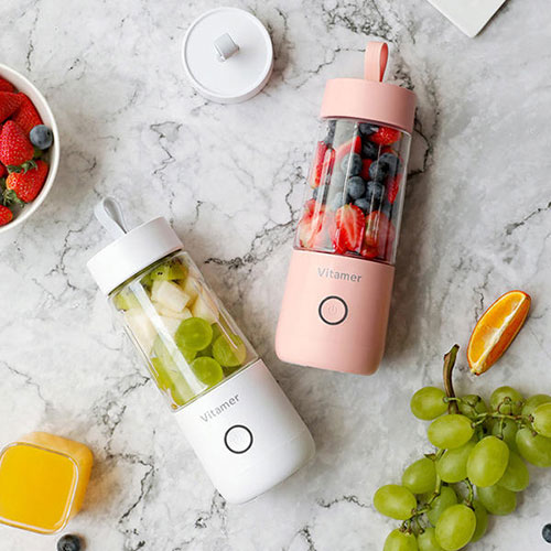 Vitamer Automatic Fruit Juicer Bottle Pink