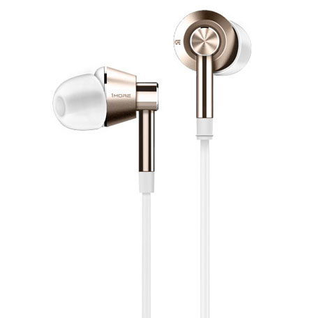 1More Dual Driver In-Ear Headphones White/Gold