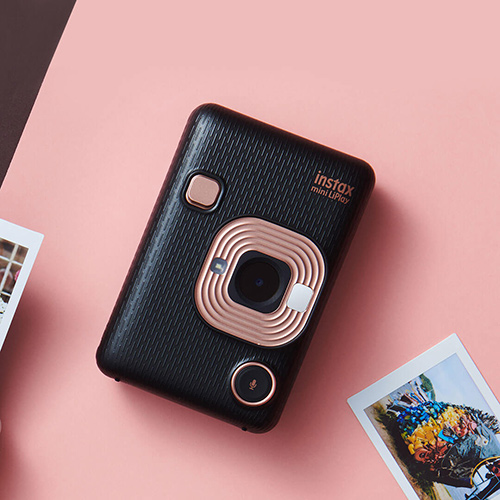 Fuji instax Mini liplay imaging Polaroid camera Gold
