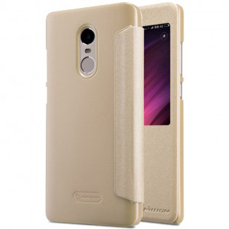 NILLKIN XIAOMI RedMi Note 4X Sparkle Leather Case Gold