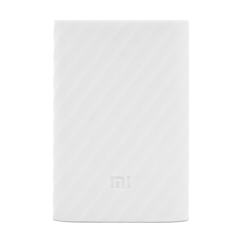 Xiaomi Mi Power Bank 10000mAh Silicone Protective Case White