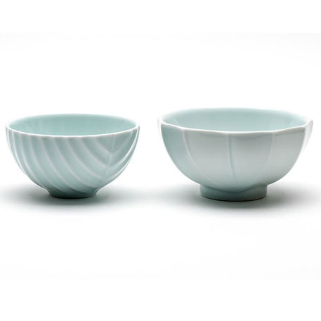 FINEMADING Porcelain Bowl Pale Green Set 4 pcs