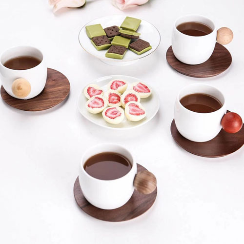Finemading Quality Porcelain Planet Cup Coffee Mug (4 pcs. set)