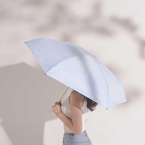 Konggu Mini Folding Umbrella White