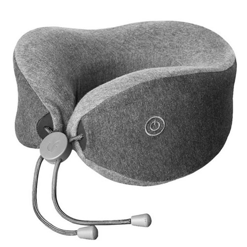 LF Multi-function U-shaped Massage Neck Pillow Gray