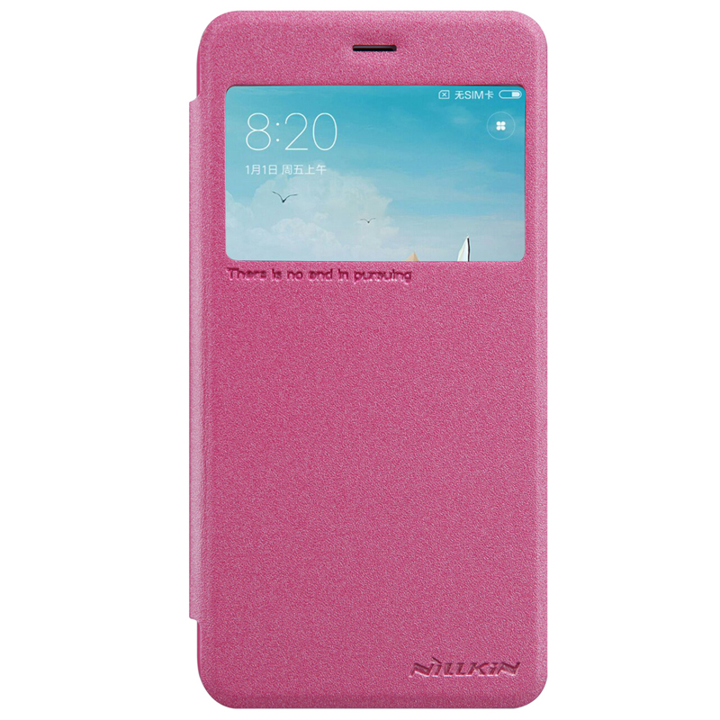Nillkin Sparkle Leather Case for Xiaomi Redmi 4X Pink