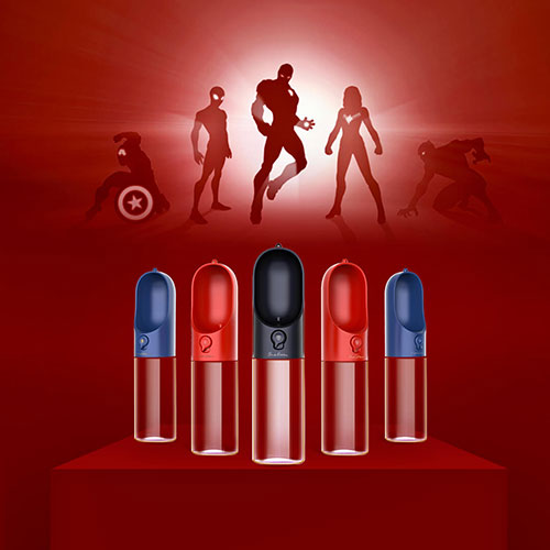 Xiaomi Petkit Portable Pet Water Bottle (300ml) Captain America