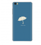 Xiaomi Mi Note Vinyl Sticker Back Cover Umbrella