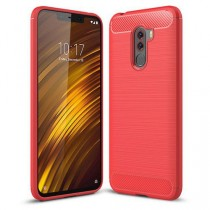 POCO F1 Carbon Protective Case Red