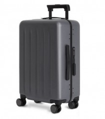 "RunMi 90 Points Trolley Aluminum Box Suitcase 24"" Gray Stars"