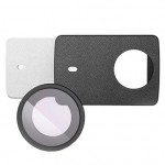 Xiaomi Yi 4K Action Camera 2 Leather Cover Skin White + UV Protective Lens Cover