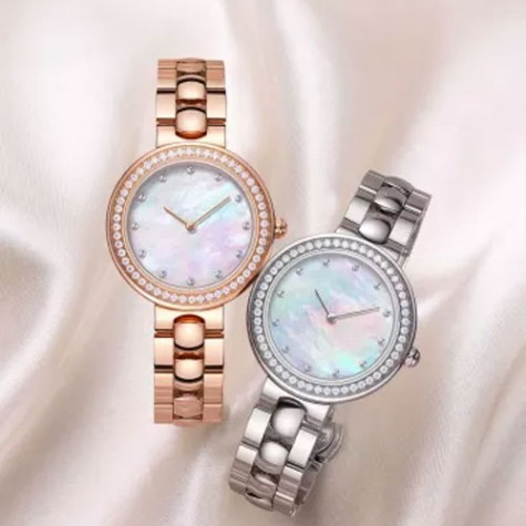 TwentySeventeen Crystal Quartz Watch Gold