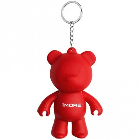 1MORE Bear Keychain Earphone Holder Red