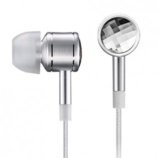 1More Crystal In-Ear Headphones Silver