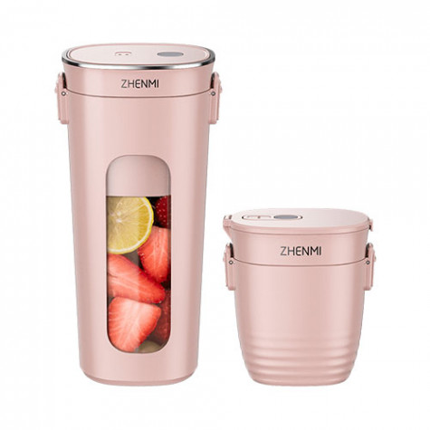 Zhenmi wireless vacuum portable juicer cup Pink