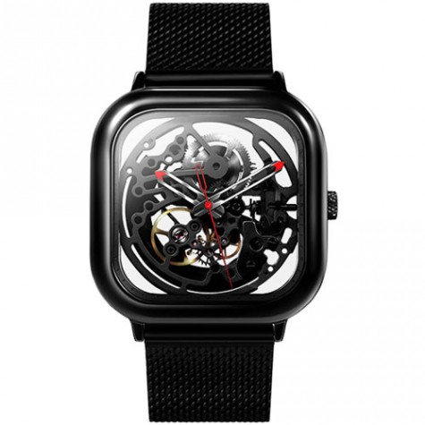 CIGA Design Full Hollow Mechanical Watches Black