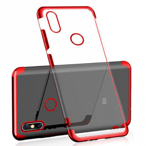 Mi Max 3 Silicone Case Cover Red