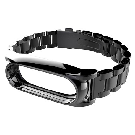 MiJobs 2 Stainless Steel Bracelet for Mi Band 2 Black
