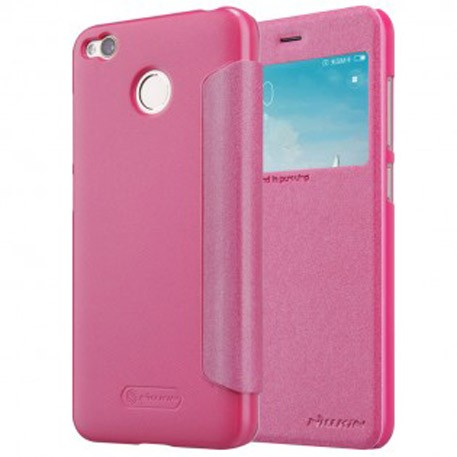 NILLKIN XIAOMI RedMi 4X Sparkle Leather Case Pink