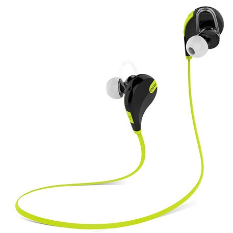 QCY QY7  Wireless Bluetooth In-Ear Headphones Black/Green