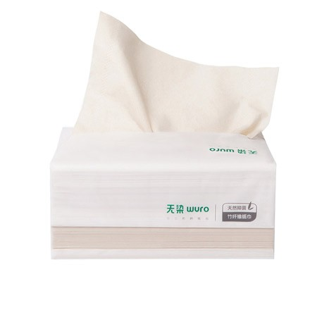 WURO Natural Bamboo Fiber Antibacterial Paper Towels 460sheets (20pcs)