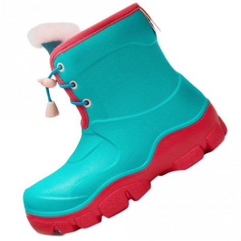 Honeywell Waterproof Non-slip Kids Boots Green/Red Size 29