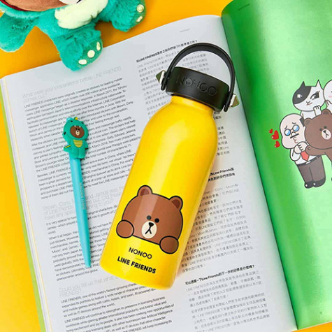 NONOO x LINE FRIENDS Thermos Yellow