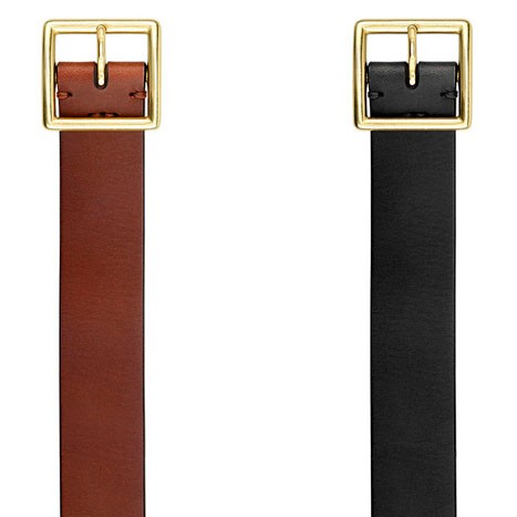 QIMIAN Cow Leather Belt Brown (L)