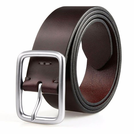 QIMIAN Cow Leather Belt Black (L)