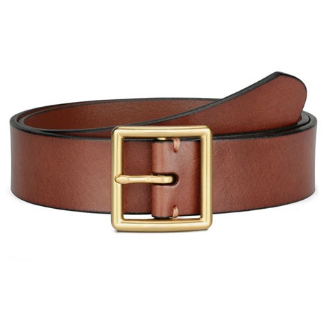 QIMIAN Cow Leather Belt Brown (XXL)