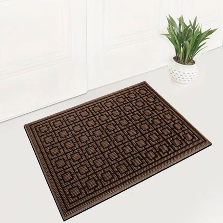 77+ Dustproof Rectangular Floor Mat 90x60cm Pineapple Pattern Brown