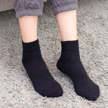 90points Merino Wool Casual Socks Men's Black