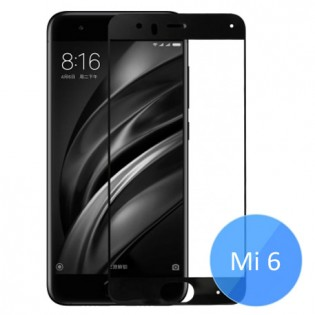 Xiaomi Mi 6 Color Frame 2.5D Tempered Glass Screen Protector Black