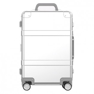 "RunMi 90 Points Smart Metal Suitcase 20"" Silver"