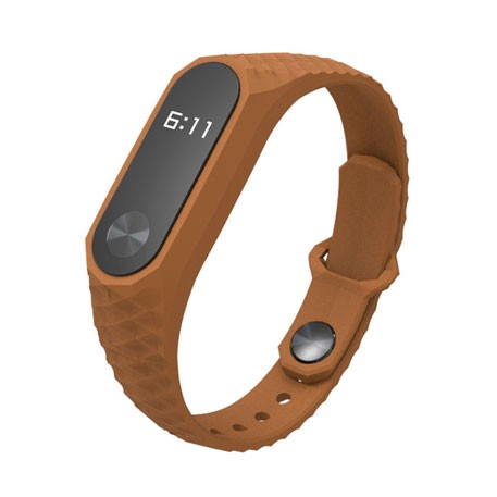Xiaomi Mi Band 2 Aurora Silicone Wristband Brown