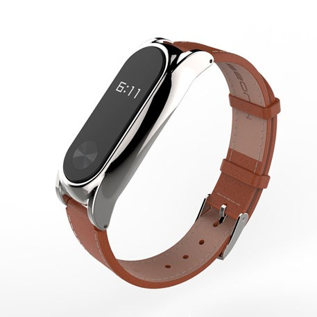 Xiaomi Mi Band 2 MiJobs Leather Strap Plus Brown/Silver
