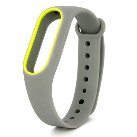 Xiaomi Mi Band 2 Silicone Strap Gray/Yellow