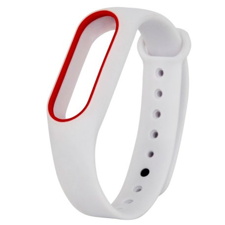 Xiaomi Mi Band 2 Silicone Strap White/Red