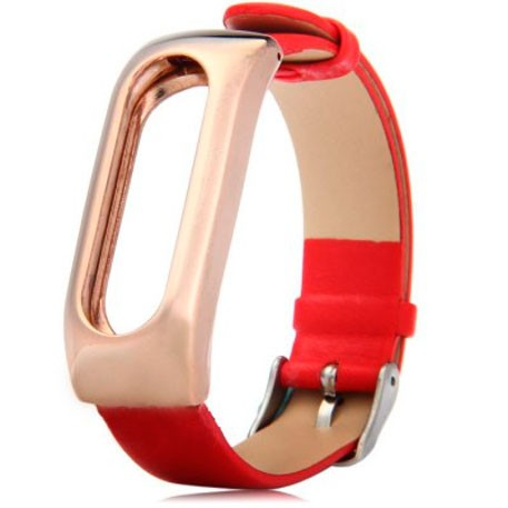 Xiaomi Mi Band Leather Strap Red