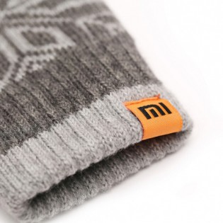 Xiaomi Mi Men`s Touchscreen Wool Winter Gloves Dark Gray / Light Gray
