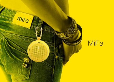 MiFa Outdoor Bluetooth Speaker Yellow