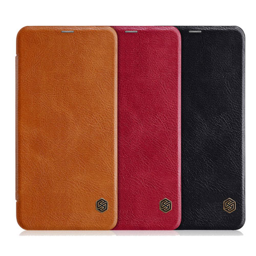 NILLKIN Flip Leather Protective Case for Redmi Note 6 Pro Brown