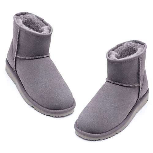 UREVO Casual Wool Boots Gray 38