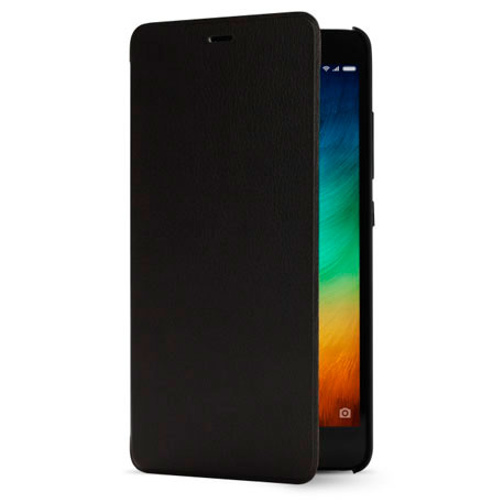 Xiaomi Redmi Note 3 Leather Flip Case Black