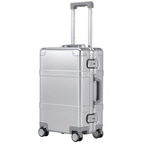 "RunMi 90 Points Metal Suitcase 20"" Silver"