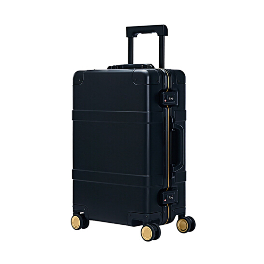 "RunMi 90 Points Metal Suitcase Fingerprint Ed. 20"" Black"