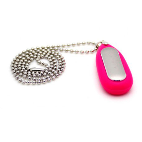 Xiaomi Mi Band Silicone Pendant Case Pink + Stainless Steel Ball Chain Necklace