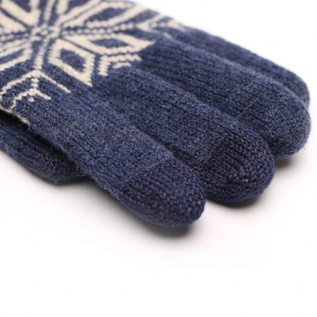 Xiaomi Mi Men`s Touchscreen Wool Winter Gloves Blue / Beige