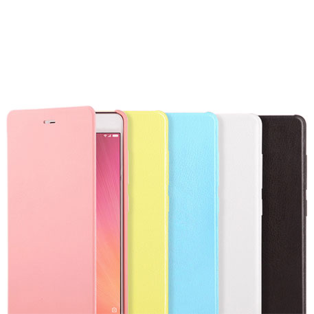 Xiaomi Redmi 3 Leather Flip Case Pink